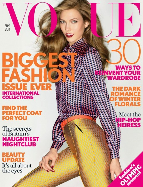Karlie Kloss photographed by Nick Knight for Vogue UK, September 2012.<br /><br /> This is the best Vogue cover there's been in a while, I wanted to buy it so much earlier but i'm ridiculously low on money so had to stop myself :(