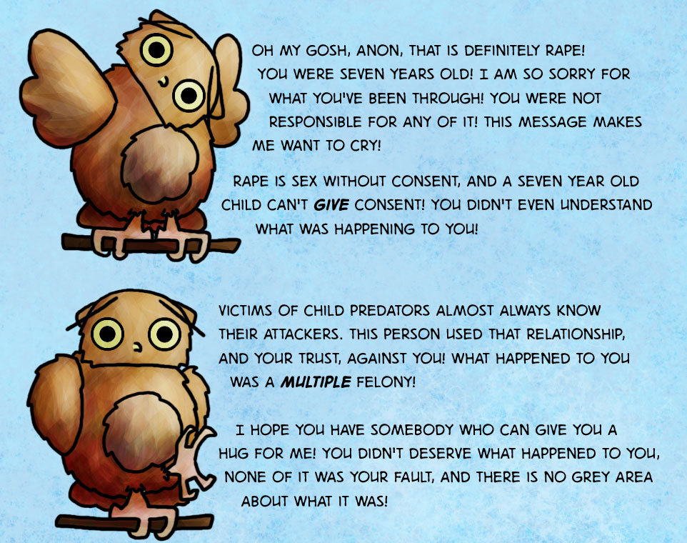 Boggle is worried about you! Boggle is also an owl.