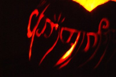 Elvish Script Pumpkin