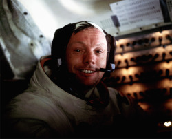 "discoverynews:  ""For those who may ask what they can do to honor Neil, we have a simple request. Honor his example of service, accomplishment and modesty, and the next time you walk outside on a clear night and see the moon smiling down at you, think of Neil Armstrong and give him a wink.""  A sad day for humanity. We've lost a legend."