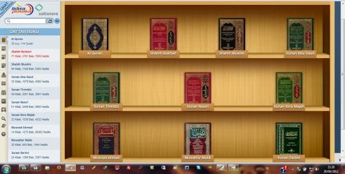 Tampilan Kitab Hadits Digital Terjemah Indonesia
