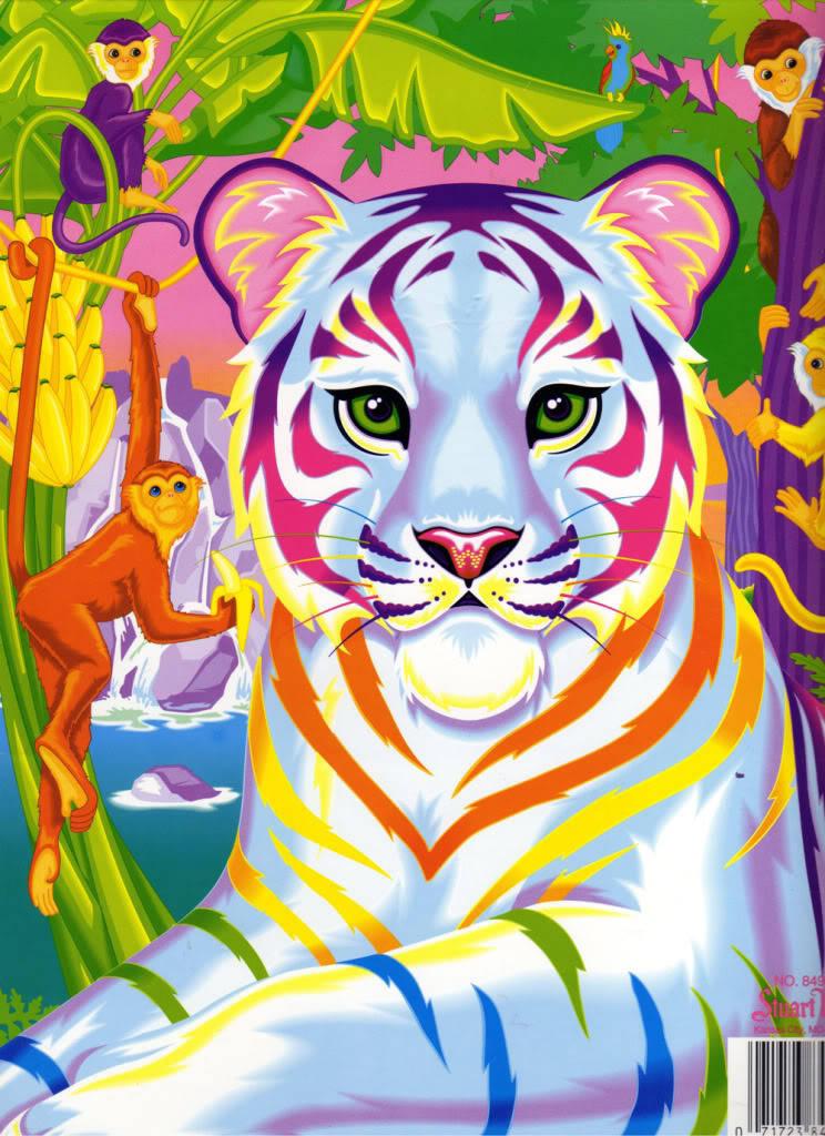 white tiger x rainbow lisa frank party