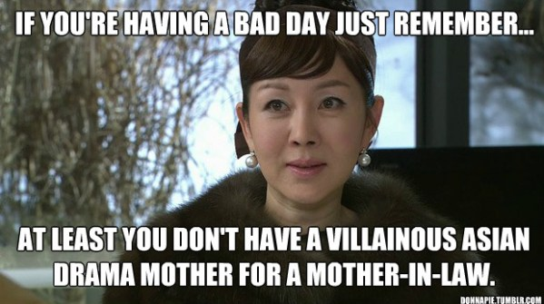 Image result for Kdrama evil mothers meme