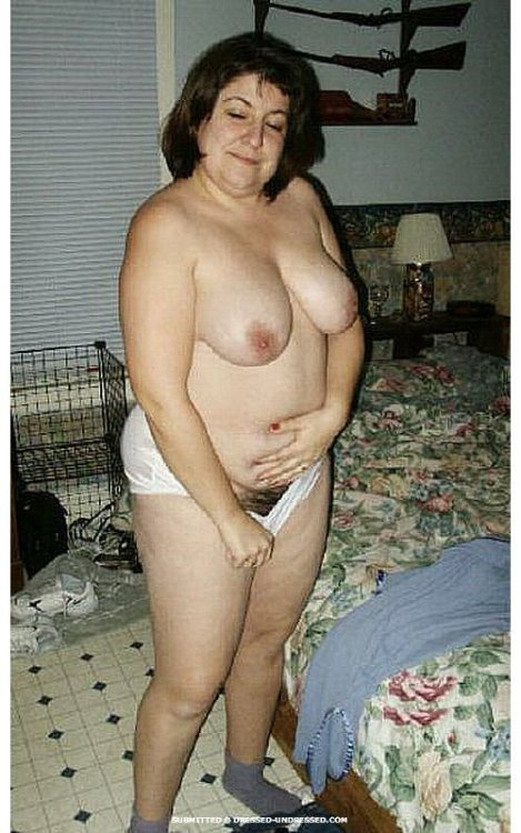 Chubby dressed undressed