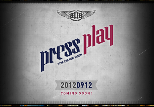 BTOB's Official Website PRESS PLAY 2nd Mini Album Teaser Image