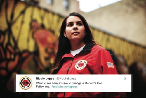 Share this photo if you believe that City Year corps members #makebetterhappen
