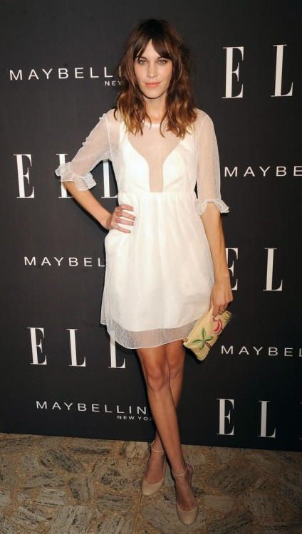 alexastyle:  Alexa Chung attending the Elle Fashion | Next - Spring 2013 Mercedes-Benz Fashion Week at the David Koch Theatre at Lincoln Center in New York.