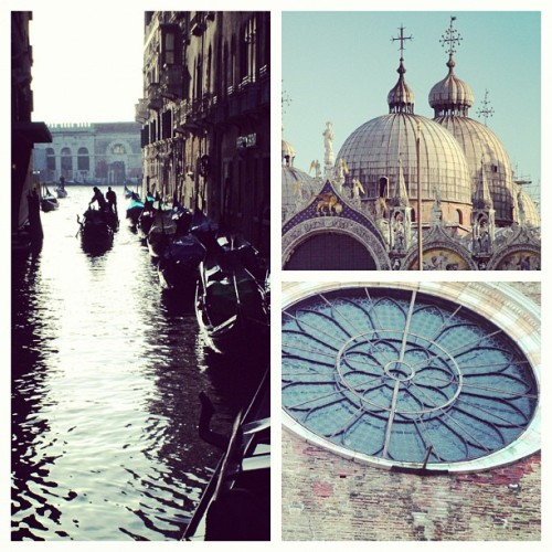 lovely venice travel picture collage, italy, beautiful