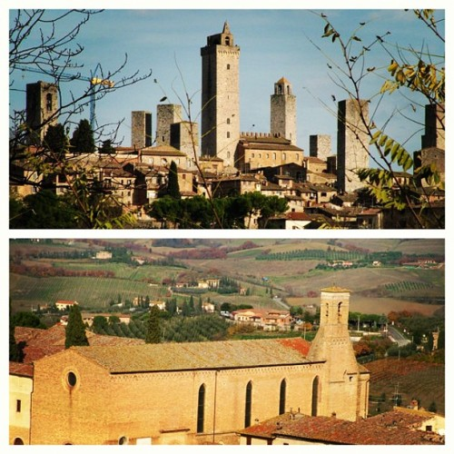 traveling in italy, tuscan hill towns, setting for tea with mussolini