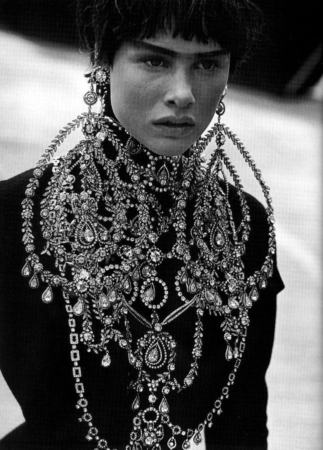 celines:</p> <p>Tanga Moreau by Peter Lindbergh for Vogue Italia Sep 1997<br />