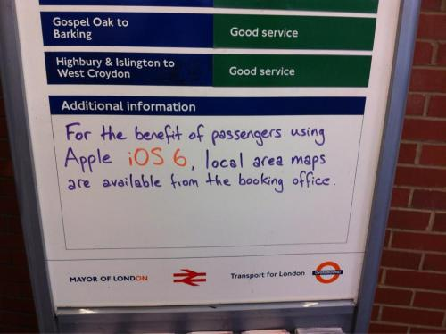 troll apple maps london