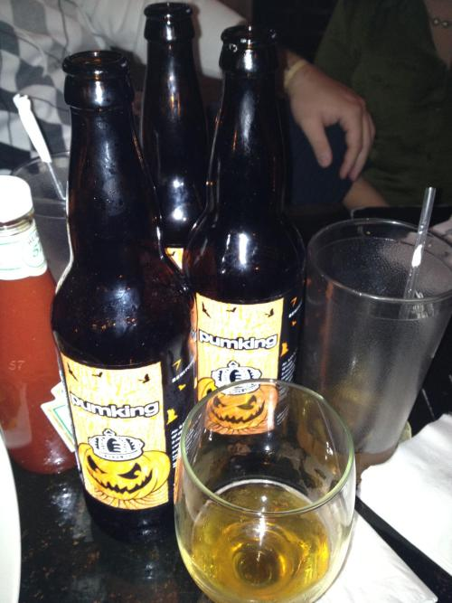 Pumpkin beer consumed in the fall… Check. And yes these are all pint sized beer consumed by me. Wasn't I blathering on and on about not drinking so much anymore? Clearly, I lied.