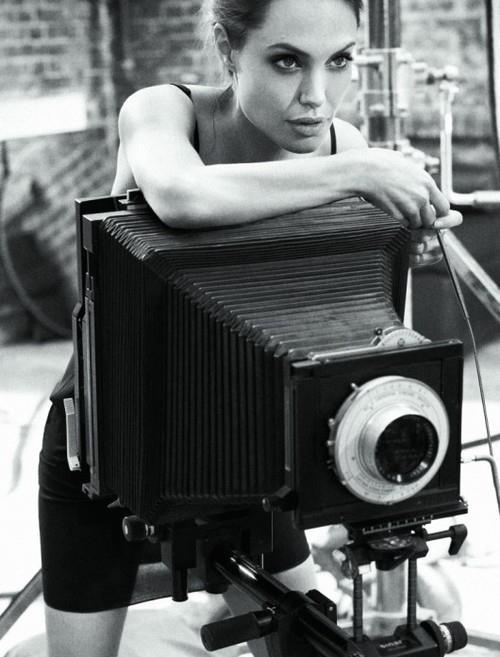 Jolie en haar camera