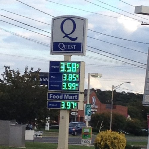 On one hand… Sad that I took this picture because I thought this was cheap. On the other hand, under $4 per gallon? I love you MD. (Taken with Instagram)