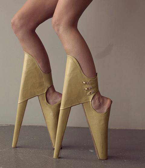 "South African student designer presents these ""Scary Beautiful"" heels… what might prove to be ridiculous, even for Lady Gaga."