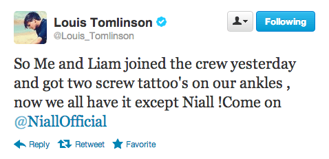 Louis Tomlinson and Liam Payne get tattoos in Ireland ...