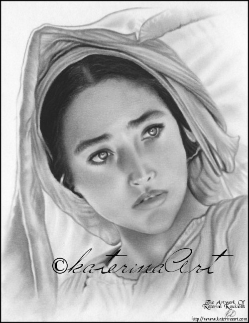 fathershane:  Olivia Hussey as Mary in Jesus of Nazareth, sketched by KaterinaArt.