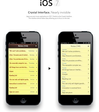 iOS 7 con un nuovo design