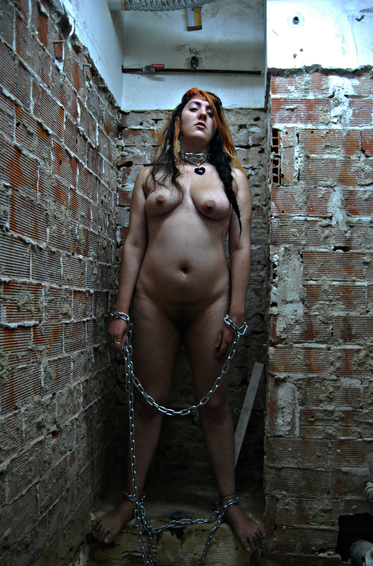 chained nude