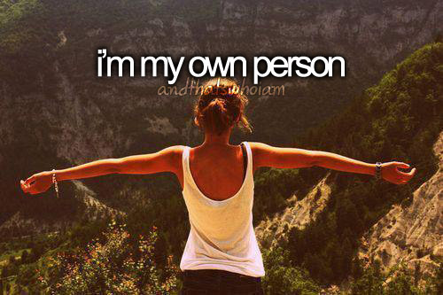 own person