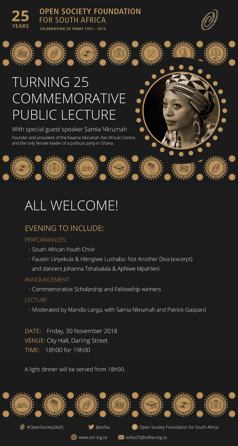 OSF-SA 25 Years Commemorative Lecture Poster