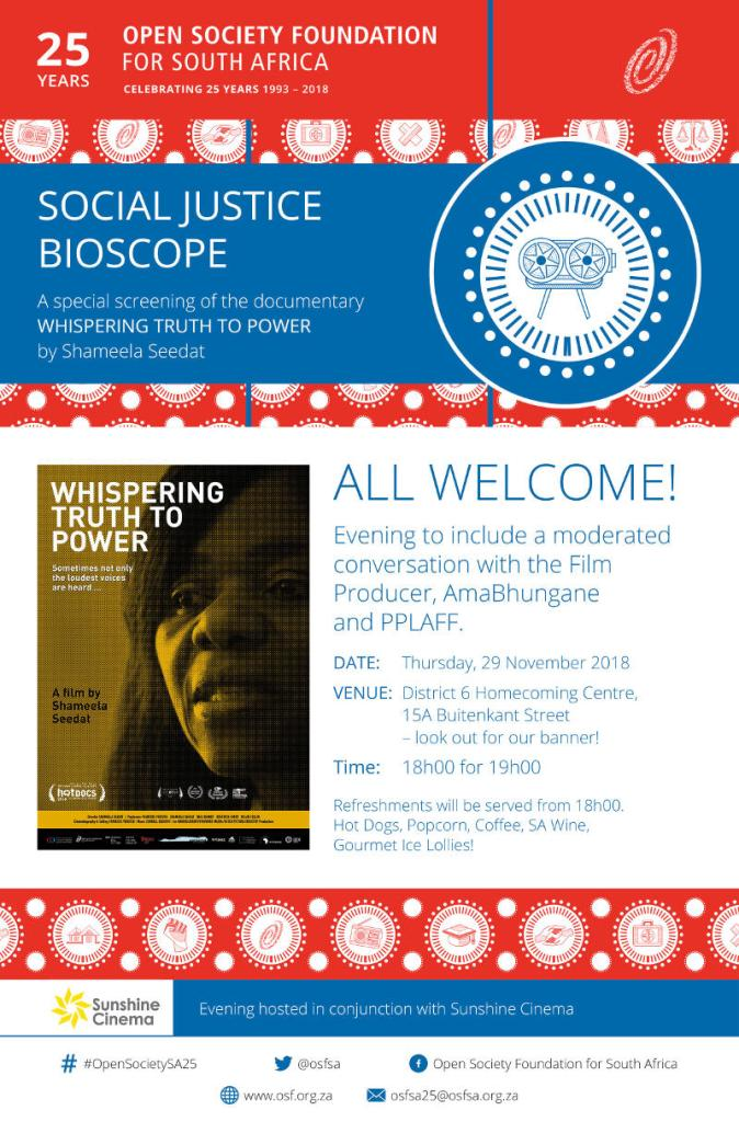 OSF-SA Bioscope Poster 25 Years in South africa
