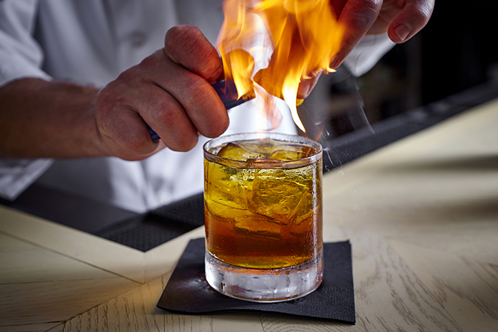 Flaming Orange Peel  The Blanchard Old Fashioned   Wine Enthusiast     Flaming Orange Peel  The Blanchard Old Fashioned   Wine Enthusiast Magazine