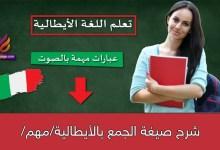 شرح صيغة الجمع بالأيطالية/مهم/