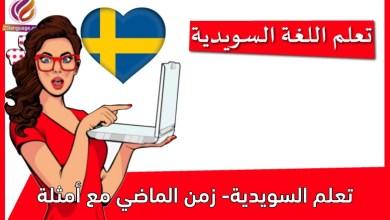 تعلم السويدية- زمن الماضي مع أمثلة