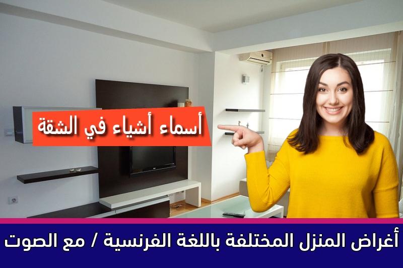 أغراض المنزل المختلفة باللغة الفرنسية / مع الصوت