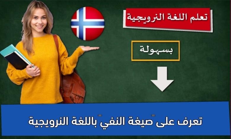 """تعرف على """"صيغة النفي"""" باللغة النرويجية"""
