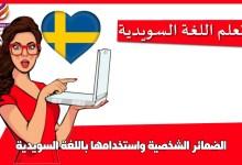 الضمائر الشخصية واستخدامها باللغة السويدية
