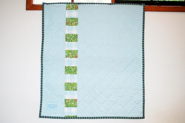 Baby Elephant Quilt - back