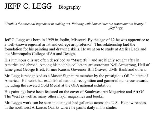 Legg Bio 1-20-17