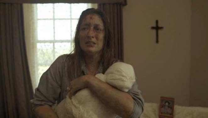 Charlie Blackwood as Rachel Hopkins in Lionsgate's horror thriller Matriarch