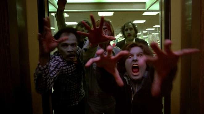 Zombies head for the mall in Romero