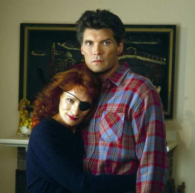 Nadine and Ed Hurley hug