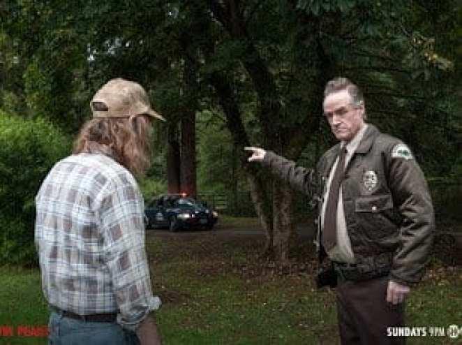 Harry talks to a witness