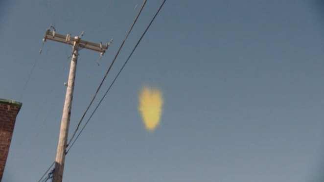The soul of dead boy floats into a power line in Twin Peaks
