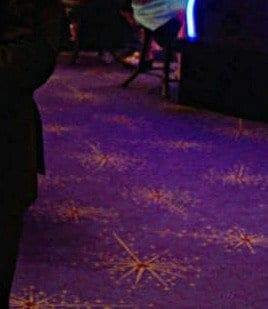 starry carpet in the casino