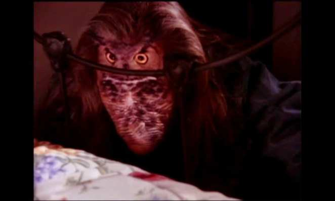 BOB shows his other form as an owl at the end of Laura Palmers bed he creeps