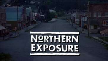 northern exposure title card main street of a small Alaska town