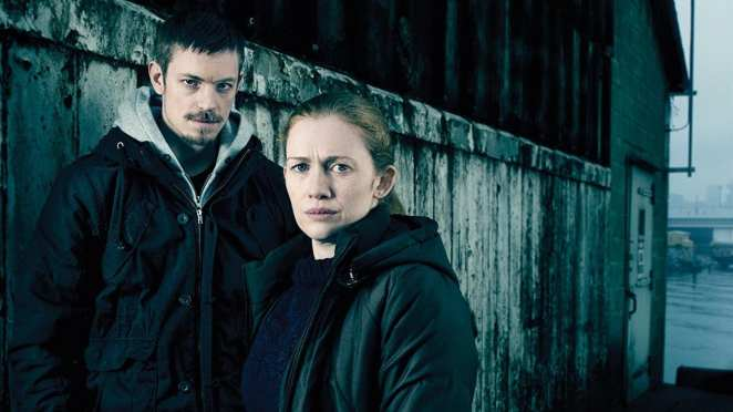 Linden and Holder stand outside a warehouse in The Killing