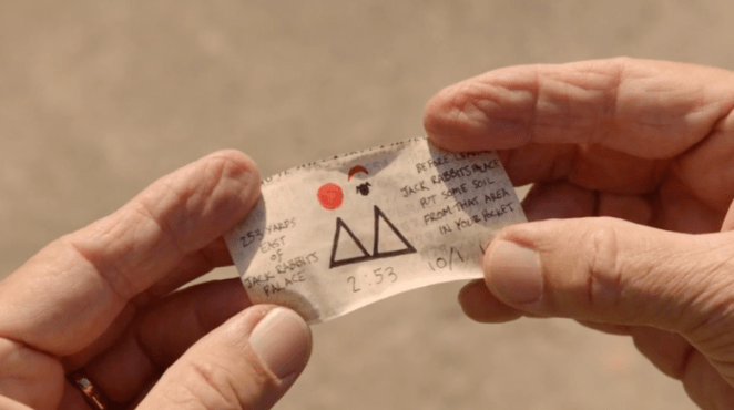 briggs note inside a capsule with clues