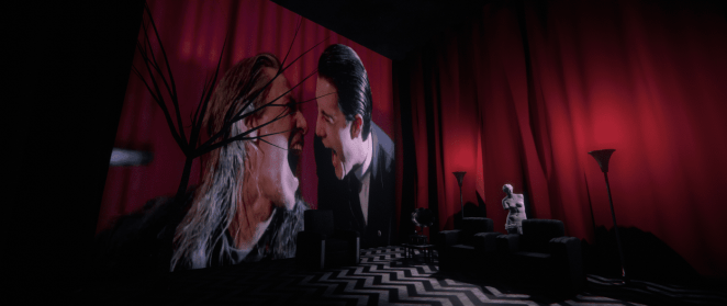 VR BOB and Doppelganger cooper in the black lodge