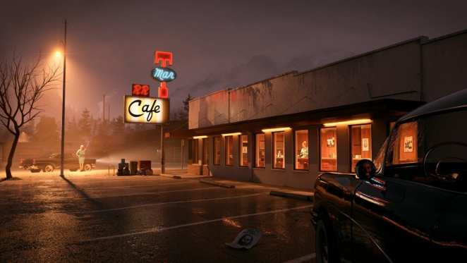 The Diner by Lukas Korner who donated this 3d model for use in 'The Archivist'.