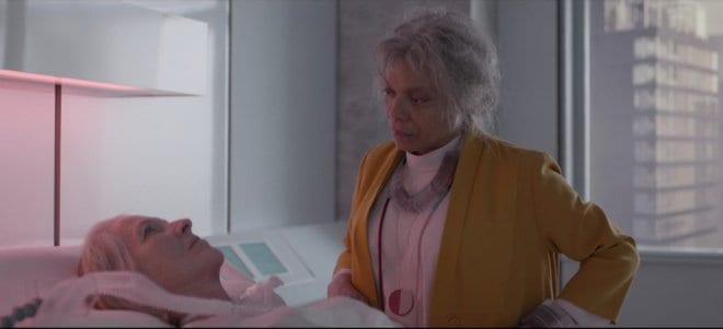 An older Kelly visits Yorkie in the hospital