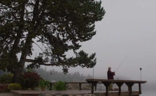 Pete goes fishing finally at the end of Twin Peaks