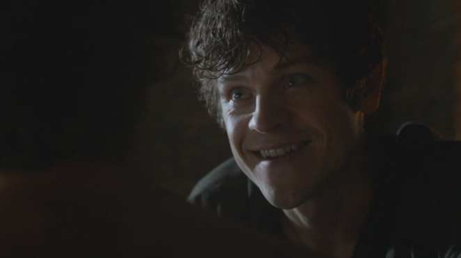 Ramsay Bolton  grinning in Game of Thrones