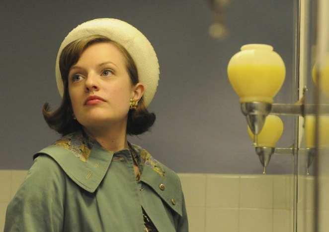 Peggy Olsen in the ladies room